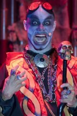 Frank N Furter, is that you? James Berkley impresses as Doctor Moron.