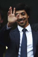 Sheikh Mansour watches over Manchester City.