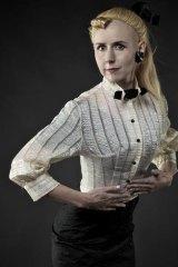 Performer Elena Knox in character as Bild-Lilli.