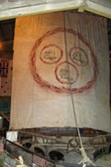 Lost: Salvador Dali painted a special sail for one of the  rafts for the Las Balsas expedition from Ecuador to Australia.
