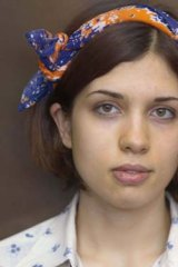 Punk protest ... Pussy Riot members are standing their ground. Above, Nadezhda Tolokonnikova, Photo: AP
