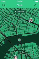 A screenshot of the Cloak app.