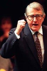 Former NSW Premier, Neville Wran.