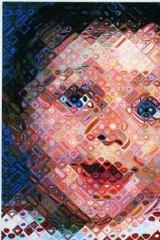 Close call: Chuck Close's <i>Emma</i>, 2000, oil on canvas.