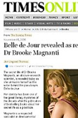 Dr Brooke Magnanti as she appeared online after The Sunday Times outed her.