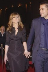 Aniston in 2004 with then husband Brad Pitt.