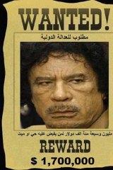 Wanted ... Muammar Gaddafi.