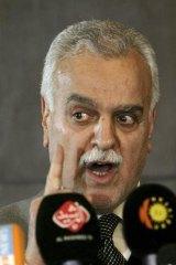 Iraq's Vice-President Tariq al-Hashemi at a news conference in 2011.