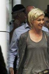 Arrival: Ellen DeGeneres and Portia de Rossi at Sydney Airport on Friday.