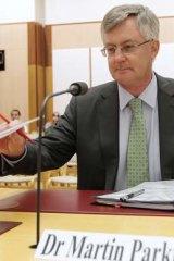 Treasury secretary Dr Martin Parkinson.
