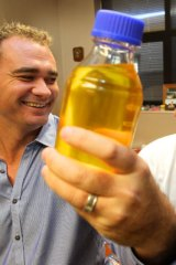 A lot of bottle ... Dr Matheson at his lab at Prince of Wales Hospital with Professor Bill Walsh.