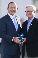 Tony Abbott and Senior Australian of the Year Fred Chaney.