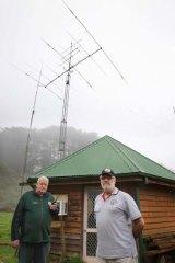 Radio volunteers Jim McNabb (left) and Randall McDonald.