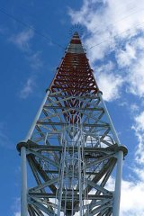 The Woodside Omega Transmittor is the tallest structure in Australia.