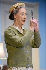 Judi Farr as Miss Marple.
