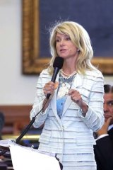 Wendy Davis begins a filibuster in an effort to kill an abortion bill.
