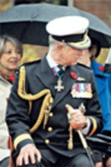 Prince Charles chats to his wife, Camilla, Duchess of Cornwall, during a military ceremony in British Columbia this week.