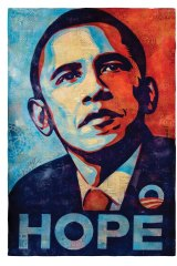 "Shepard Fairey's iconic ""Hope"" poster became synonymous with Barack Obama's presidential campaign."