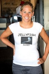 """Chloë McCardel: Took to wearing a T-shirt that said """"Jellyfish suck!!!"""""""