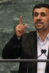 Mahmoud Ahmadinejad, President of Iran.