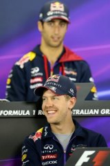 Red Bull Racing's Sebastian Vettel and Daniel Ricciardo.
