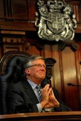 Retiring Supreme Court judge Philip Cummins.