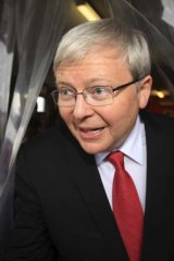 Cutting the number of boat arrivals: Kevin Rudd.