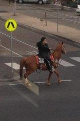 Mario rides his horse through St Kilda and Port Melbourne.