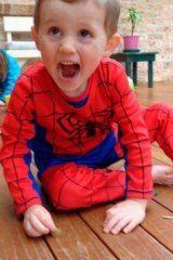 No clues: William Tyrell was last seen wearing his Spider-Man outfit.