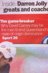 State of Oops ... Our misdirected pointer to the state of origin story.