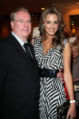 Andrew McManus with former Miss Universe Australia Laura Dundovic.