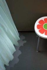 A petal perch… photographer Thomas Demand's small stool.