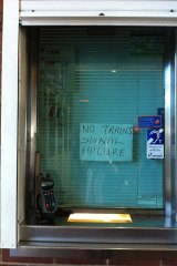 Sign of the times ... at Sydenham Station. Sent in by Sarah McNiven.