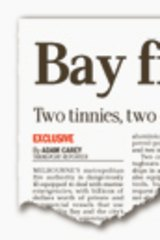 <i>The Age's</i> report from January pointing to the MFB's lack of a large firefighting vessel.