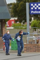 Two policemen were stabbed in Melbourne this week.