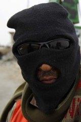 A rebel fighter in Ajdabiyah Libya.