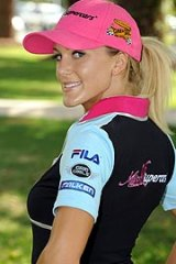 Brisbane's Miss V8 Supercars hopeful Kaitlin Hawkins, 22.