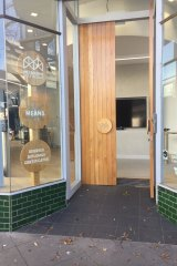 The door is open, but no one is entering. Melbourne Polytechnic's Skills and Jobs Centre on Chapel Street.