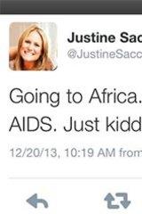 Sacco's offending tweet.