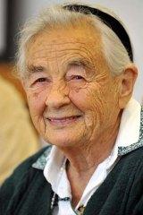 Maria von Trapp, daughter of Austrian Baron Georg von Trapp,  at the Villa Trapp  in Salzburg, Austria in 2008. She has died aged  99.