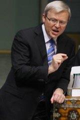 Kevin Rudd...rampant in the opinion polls.