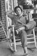 Author of <i>To Kill a Mockingbird</i> Harper Lee in an undated photo on a visit to her home town.