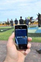 In the firing line: A Sportsbet app at Caufield.