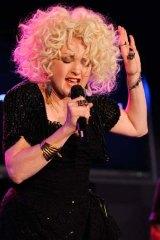 Singer Cyndi Lauper.