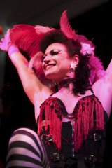 Searching for originality ... the artistic director of the Paris Burlesque Festival, Juliette Dragon.