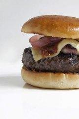 David Blackmore's full-blood wagyu hamburger from Rockpool Bar & Grill.