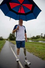 John Hilton has been an above-the-knee amputee since a car accident in 1982.