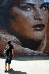 A Rone work in Wollongong.