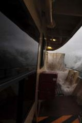 Other parts of Sydney were also struck by violent weather. Passengers aboard the Manly ferry contended with gale force winds and heavy seas as the low pressure system made its way south.