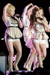 Korea moves … Girls' Generation strut their stuff at the Gangnam Festival in Seoul in 2012.